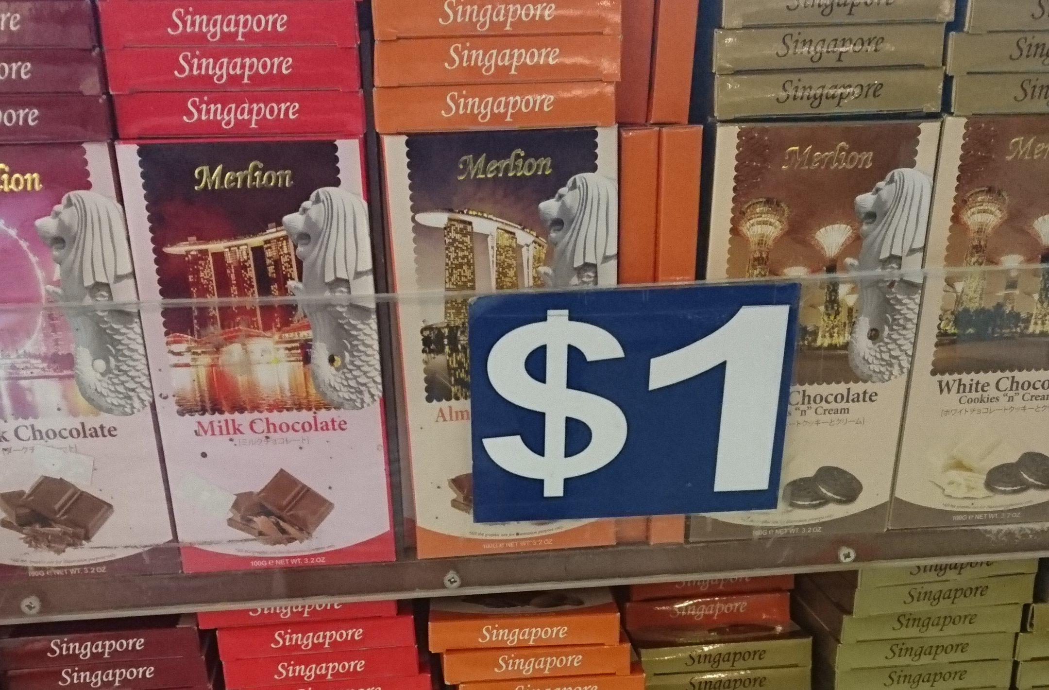 Merlion Chocolates found in Chinatown
